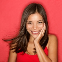 smiling young woman cute